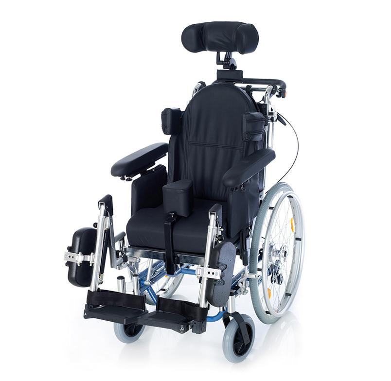 5.- Silla de ruedas basculante completa